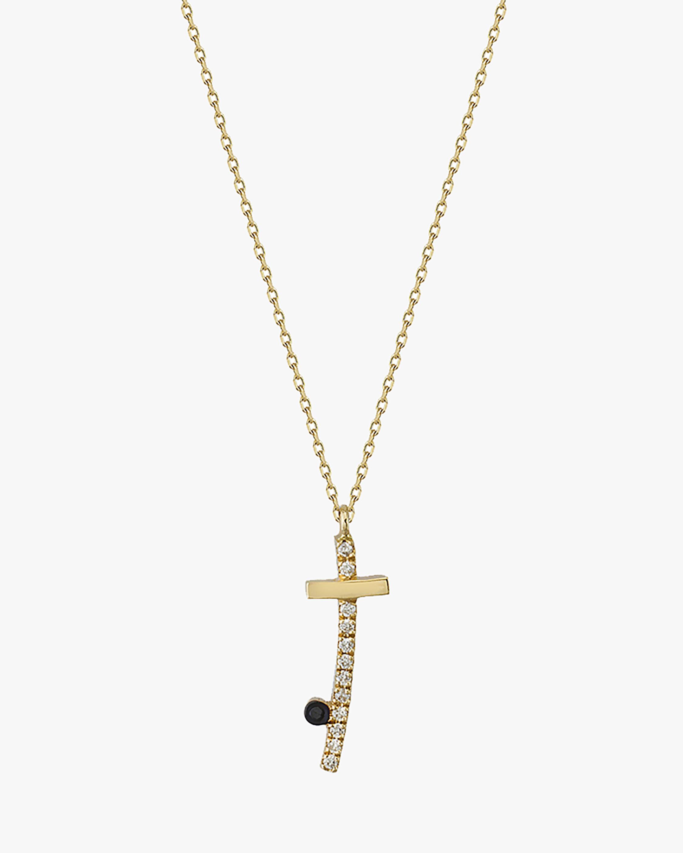 Harika Diamond Cross Pendant Necklace 2