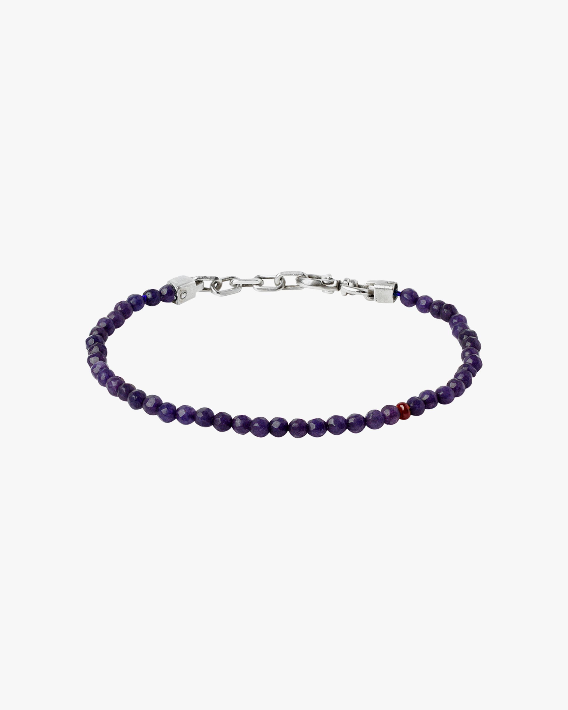 Title of Work Unisex Ruby & Sapphire Beaded Bracelet 0