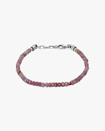 Title of Work Unisex Sapphire & Ruby Beaded Bracelet 1