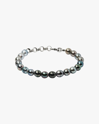 Title of Work Unisex Tahitian Pearl Beaded Bracelet 1