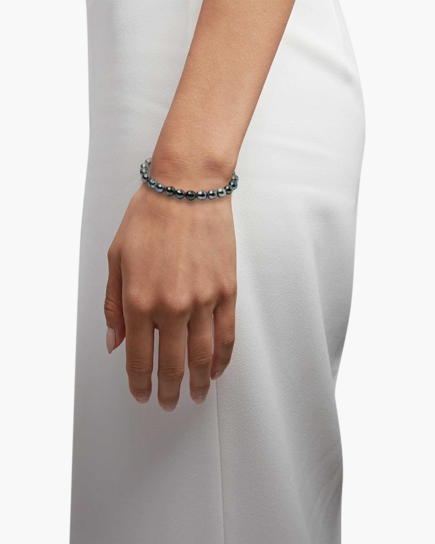 Title of Work Unisex Tahitian Pearl Beaded Bracelet 1