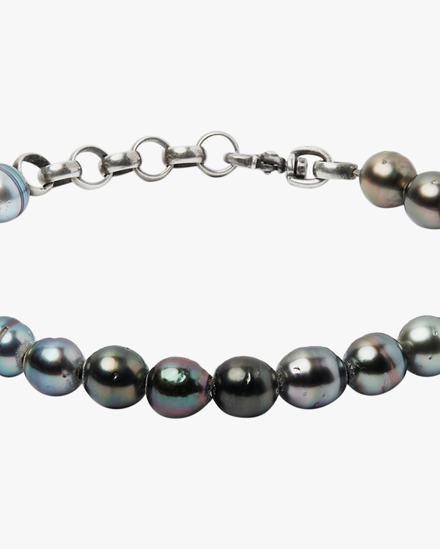 Title of Work Unisex Tahitian Pearl Beaded Bracelet 2