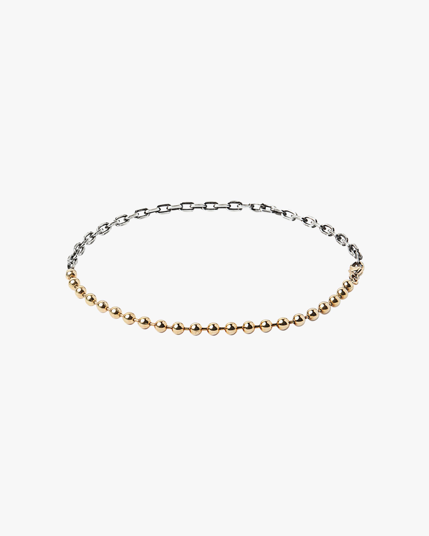 Unisex Two-Tone Anchor Cable Bracelet