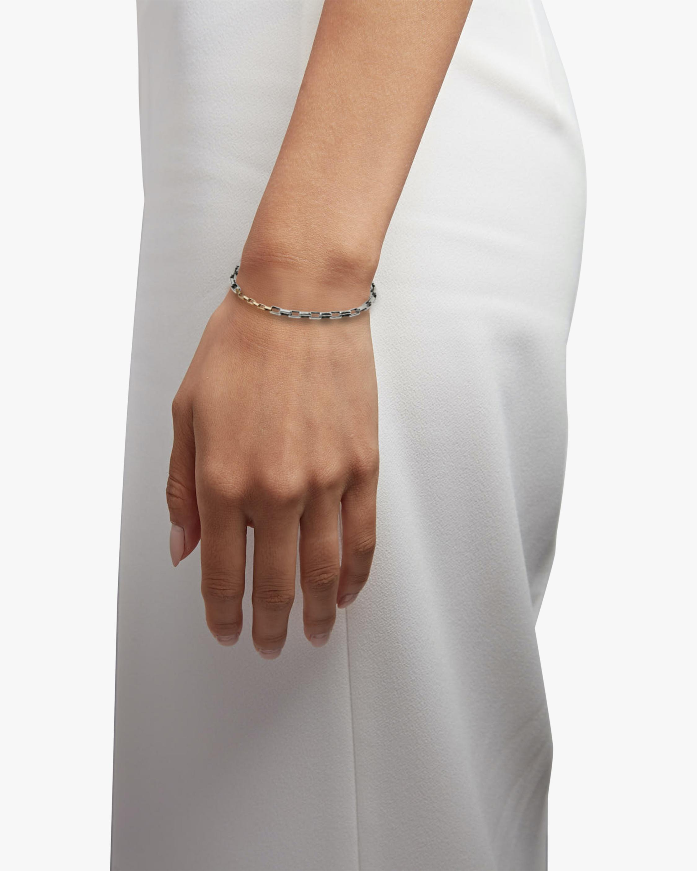 Title of Work Unisex Two-Tone Box Chain Bracelet 2