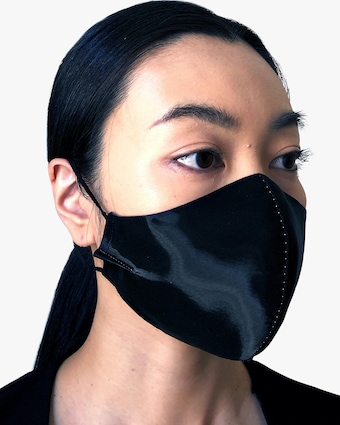 Title of Work Center Beaded Face Mask 2