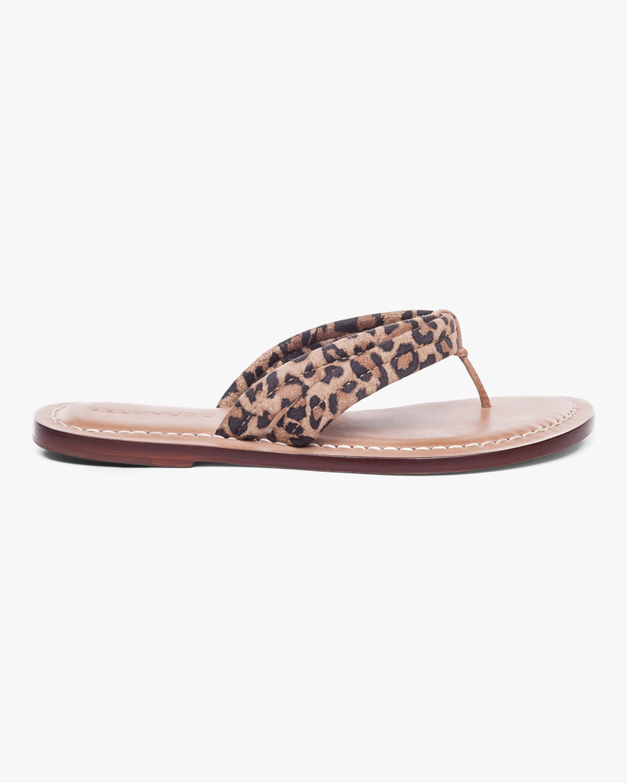 Bernardo Cheetah Print Miami Two-Tone Sandal 0
