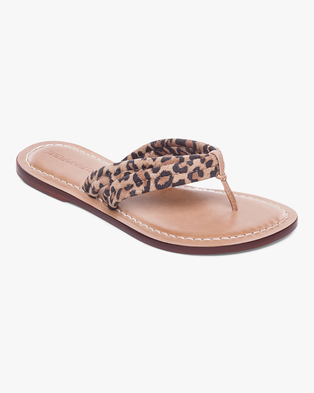 Bernardo Cheetah Print Miami Two-Tone Sandal 1