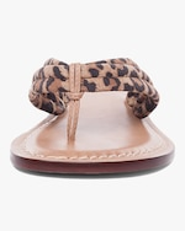 Bernardo Cheetah Print Miami Two-Tone Sandal 4