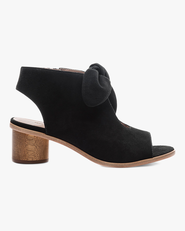 Bernardo Suede Luna Peep-Toe Sandal 1