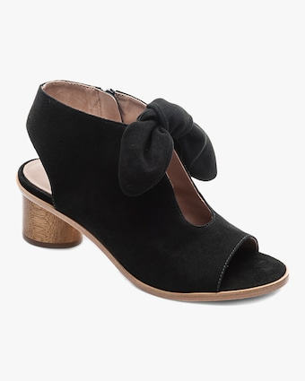 Bernardo Suede Luna Peep-Toe Sandal 2