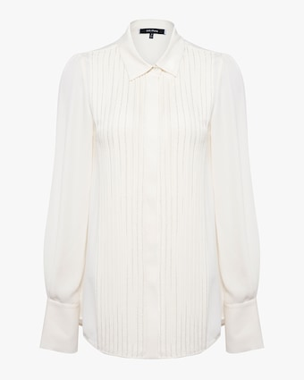 Beaded Pleated Shirt