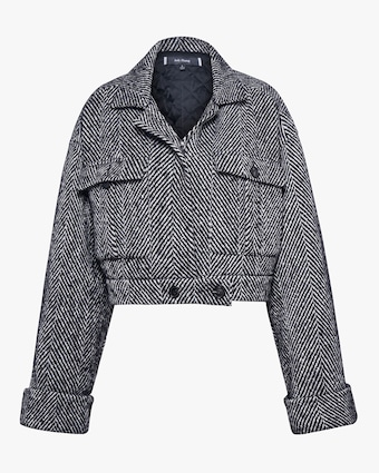 Judy Zhang Herringbone Tweed Bomber 1