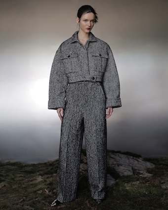 Judy Zhang Herringbone Tweed Bomber 2