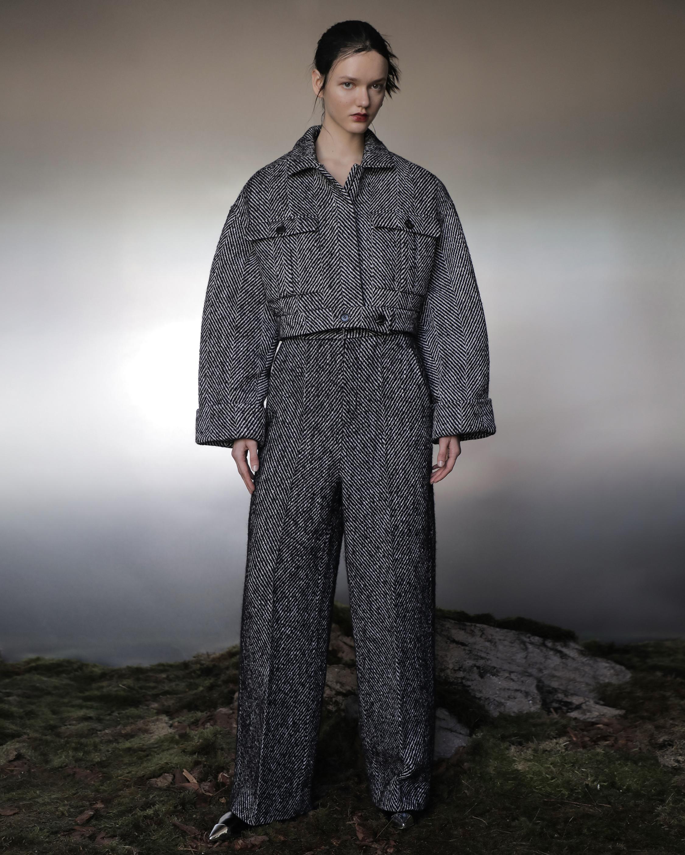 Judy Zhang Herringbone Tweed Bomber 1