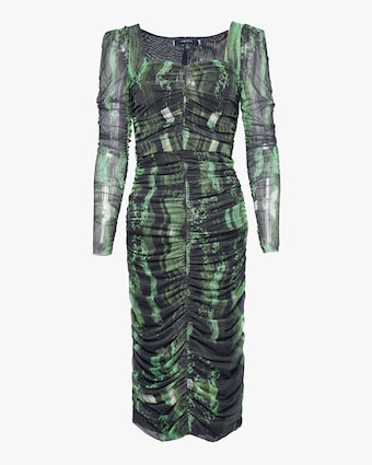 Judy Zhang Ruched Midi Dress 1