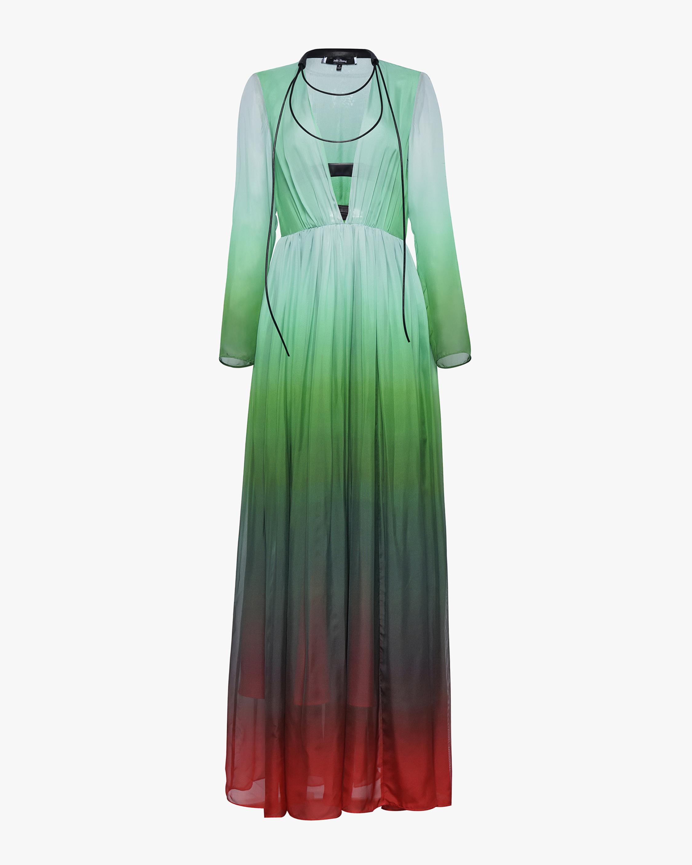 Judy Zhang Gradient Silk Maxi Dress 0