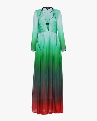Judy Zhang Gradient Silk Maxi Dress 1
