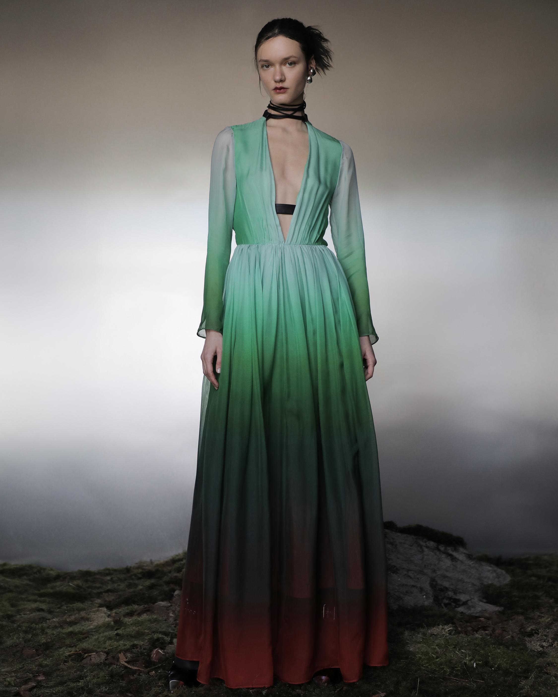 Judy Zhang Gradient Silk Maxi Dress 2