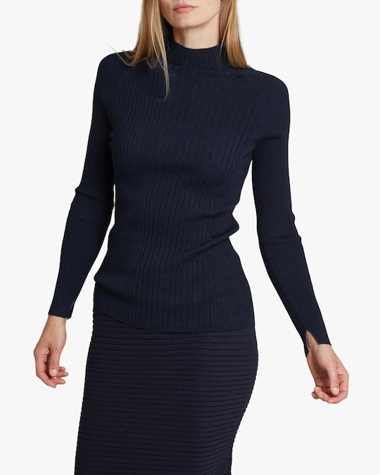 Oyun Mock Neck Ribbed Top 1
