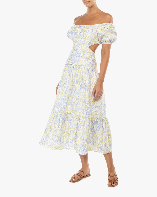 Peony Cut Out Midi Dress 1