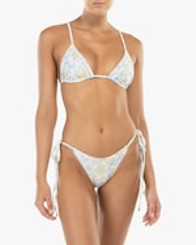 Peony Triangle String Bikini Top 1