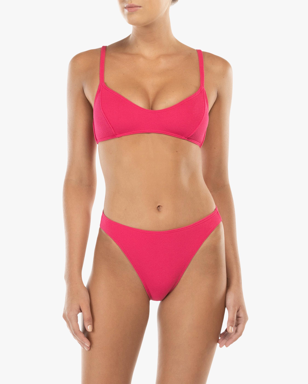 Peony Piped Bralette Bikini Top 1