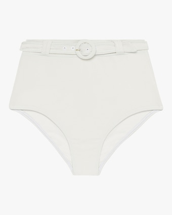 Peony Belted High-Waist Bikini Bottom 1