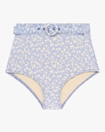 Peony Belted High-Waist Bikini Bottom 0