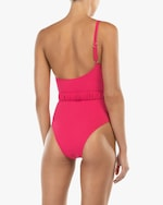 Peony Belted One-Shoulder One Piece 2