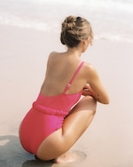 Peony Belted One-Shoulder One Piece 5