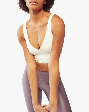 Fierce + Regal The Ivory Bustier Sports Bra 1