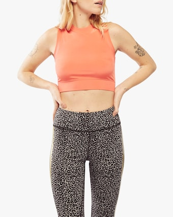 Fierce + Regal The Coral Mock Crop Top 1