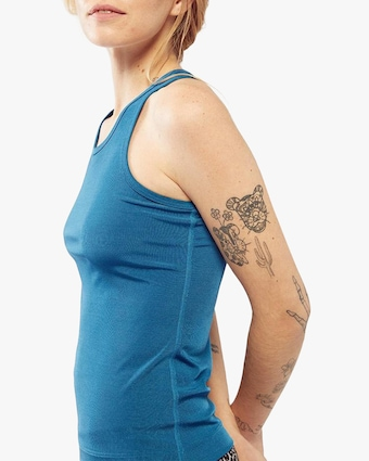 Fierce + Regal The Blue Rib Racer Tank 1