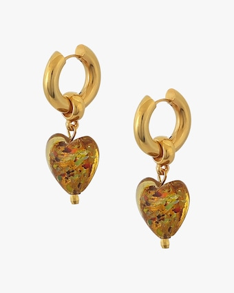 Mayol Heart of Glass Huggie Earrings 1