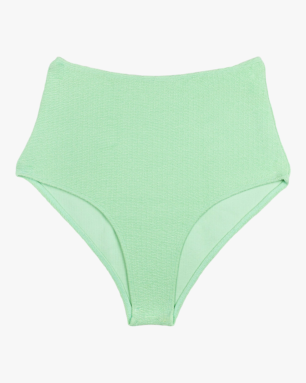 Namari Textured High-Waist Bikini Bottom