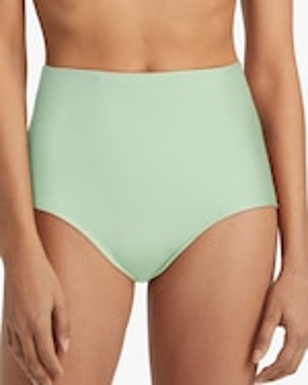 Mikoh Namari Textured High-Waist Bikini Bottom 1