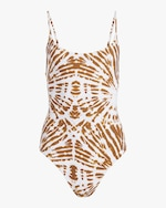 Mikoh Tie Dye Portugal High-Leg One-Piece Swimsuit 0