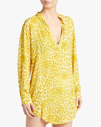 Cannes Leopard V Neck Tunic