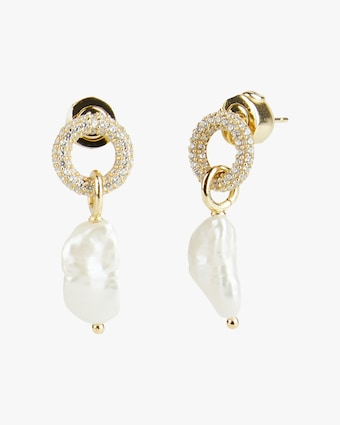 Carolee River Pavé Ring Drop Earrings 1