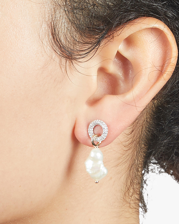 Carolee River Pavé Ring Drop Earrings 1