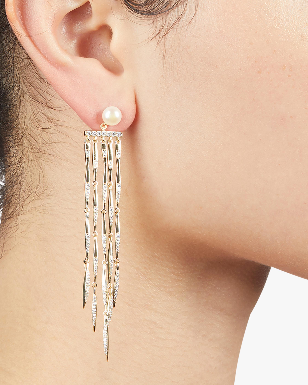 River Fringe Linear Drop Earrings