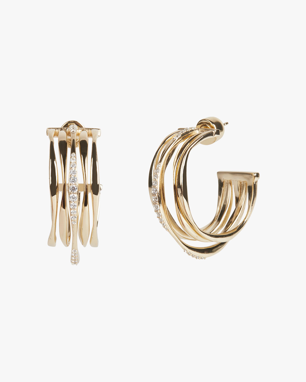 River Wavy Multi-Ring Hoop Earrings
