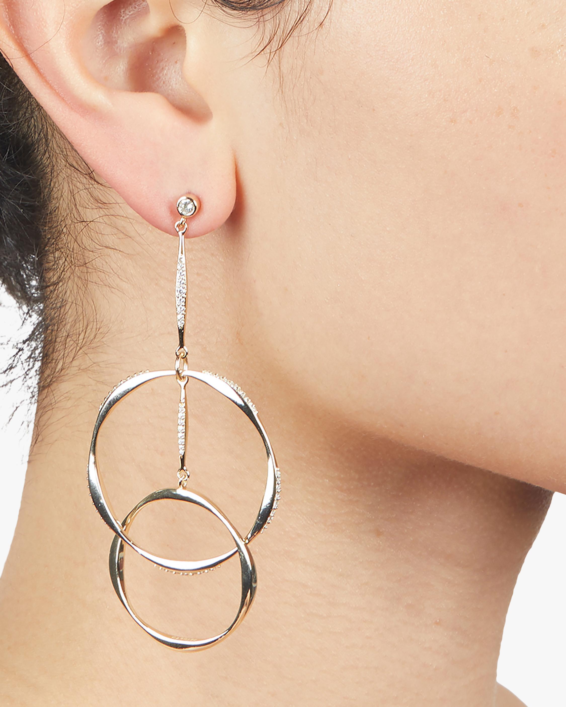 Carolee River Wavy Interlocking Rings Drop Earrings 1