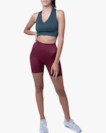 Lynx Active Maroon Ribbed High-Waist Shorts 3