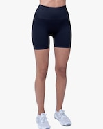 Lynx Active Black Ribbed High-Waist Shorts 0