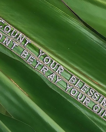 Don't Betray Your Gift Mantra Bracelet