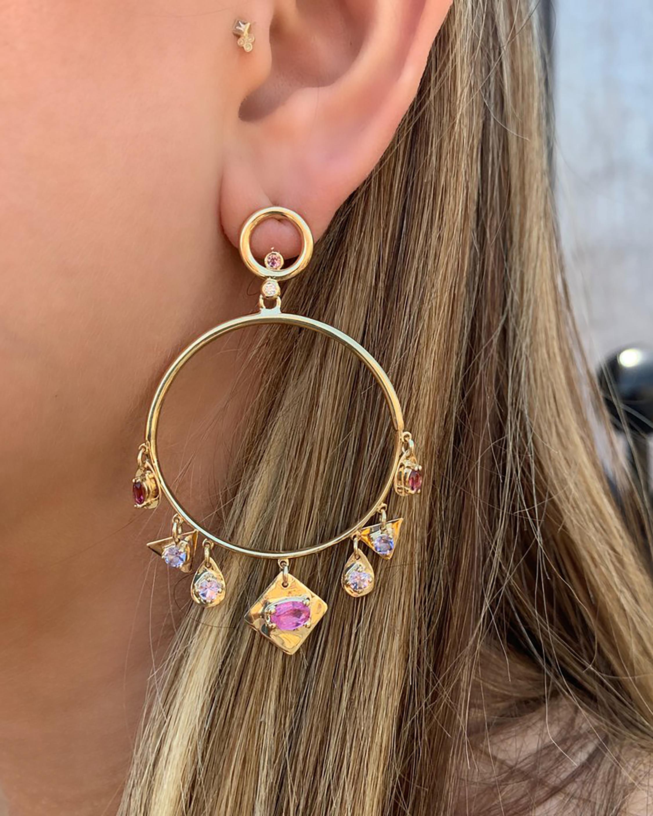Goddess Circle Dangle Earrings