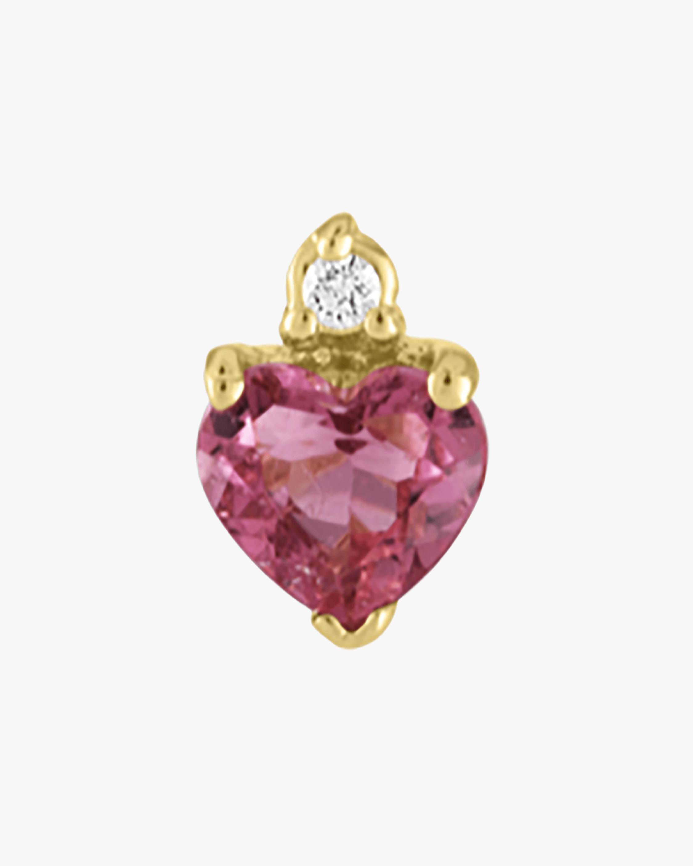 Eden Presley Single Diamond Heart Stud Earring 0