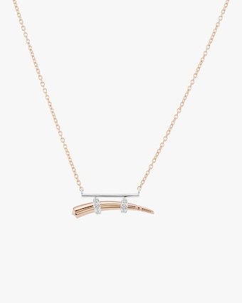 Hanno Two-Tone Pendant Necklace