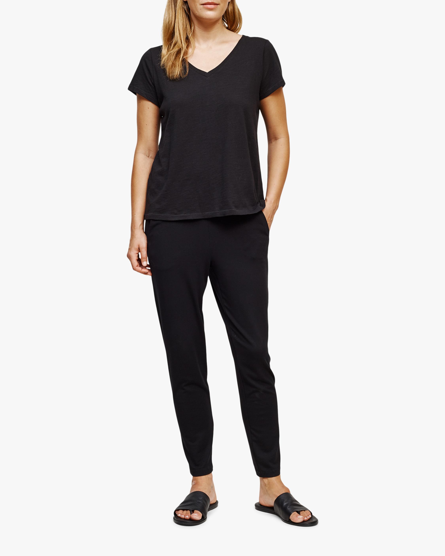 Eileen Fisher V Neck Short-Sleeve Tee 0